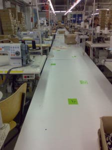 Application of Lean in Bluepoint for garment sewing units