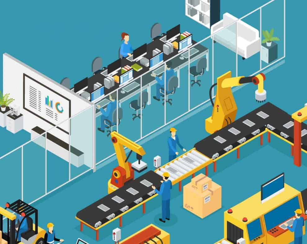 lean factory isometric production